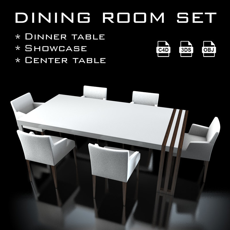 3ds max dining room set