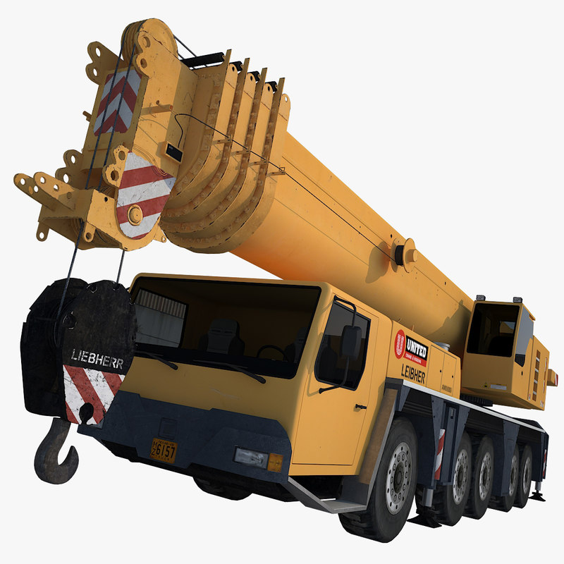 crane truck 3d max