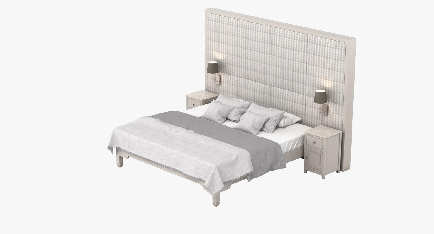 neptune chichester bed 3d model