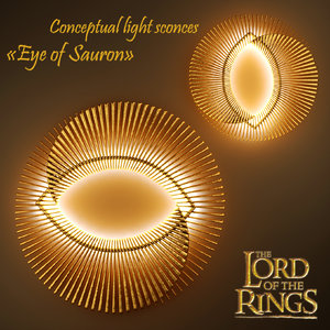 light sconces eye sauron 3d max