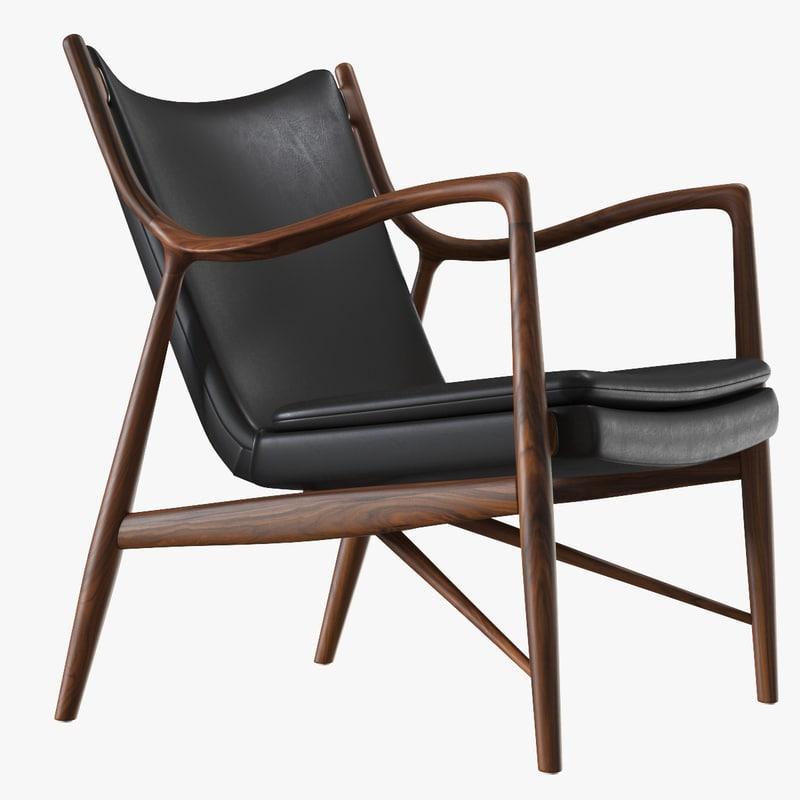 3d finn juhl 45 chair