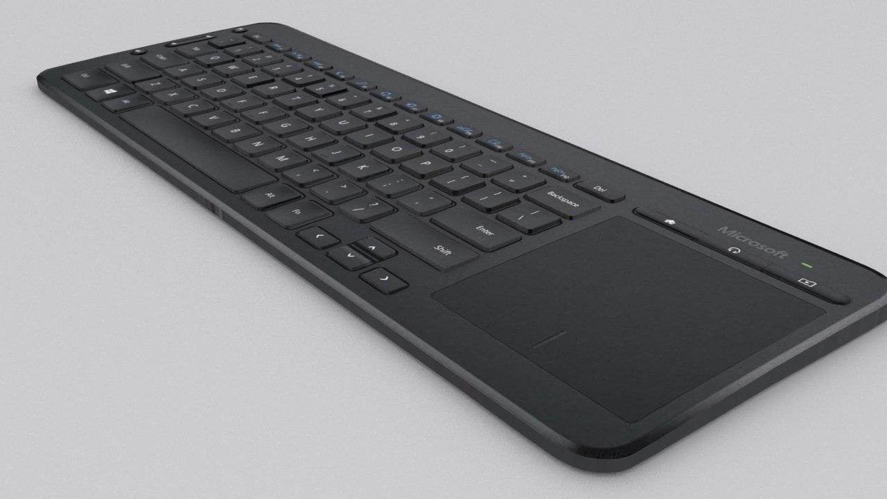 3d model microsoft media keyboard