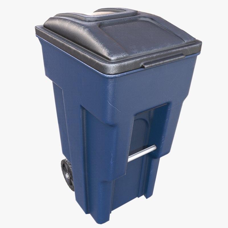 obj trash bin