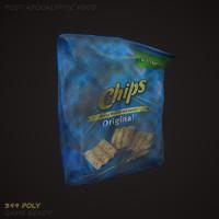 potato chips 3d max