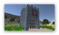 medieval castle gatehouse 3d model