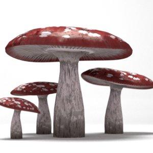 mold mushroom 1 3d blend