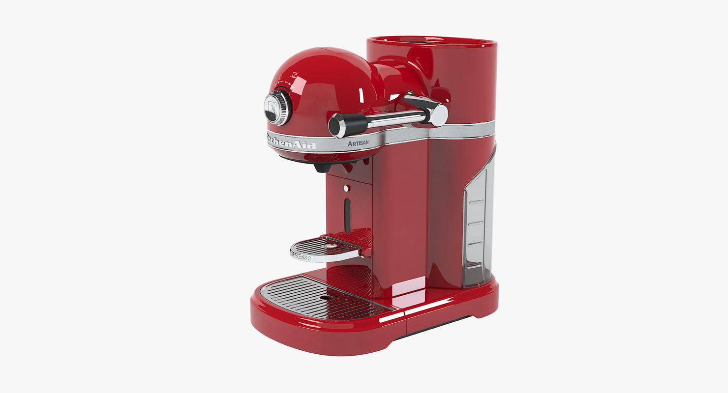 3d nespresso artisan coffee machine model