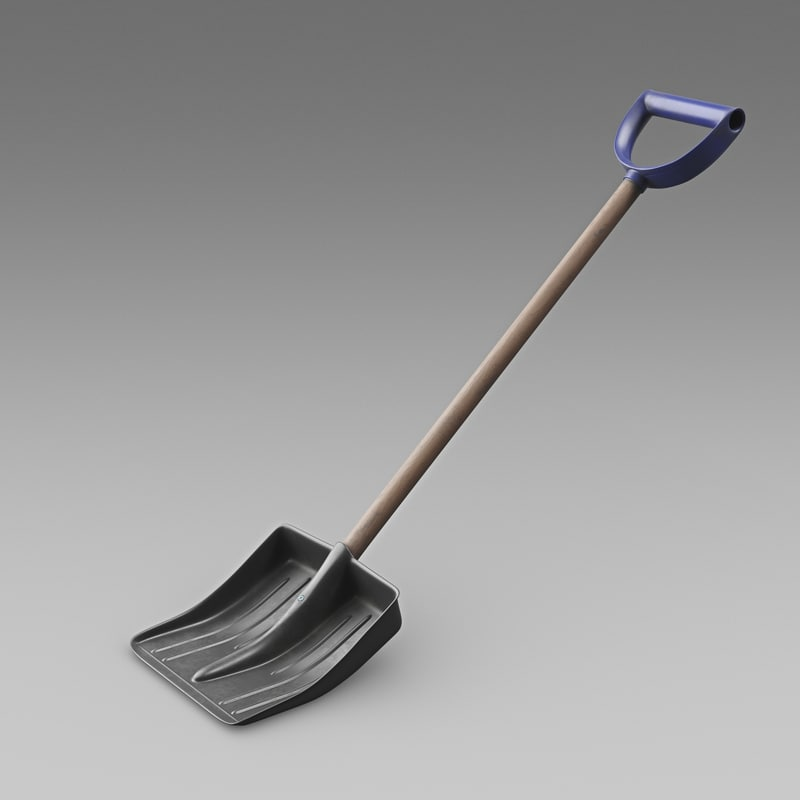 realistic snow shovel 3d model