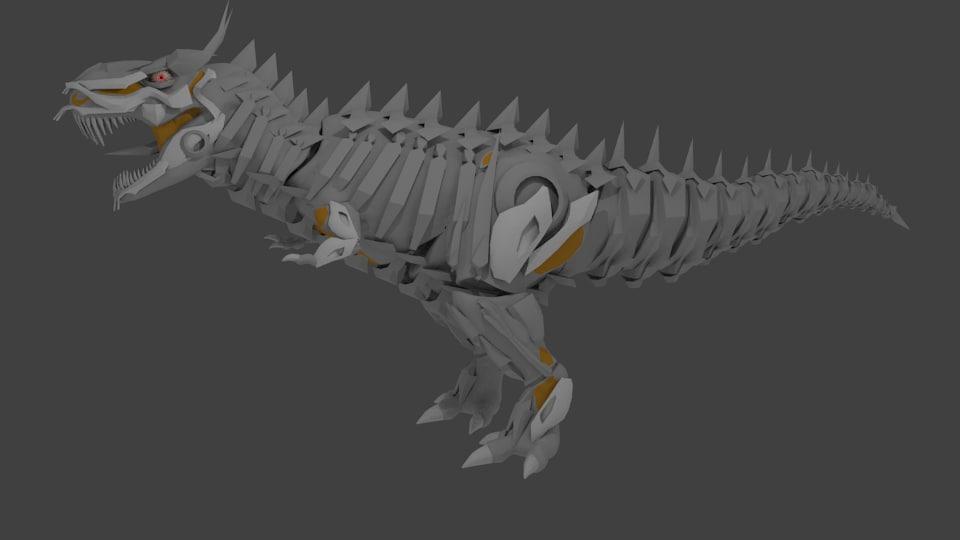 3d t-rex robot