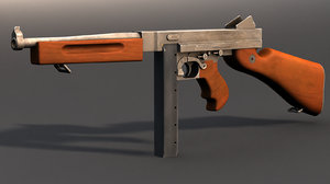 3d model thompson submachinegun