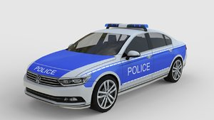 2015 passat police 3d model