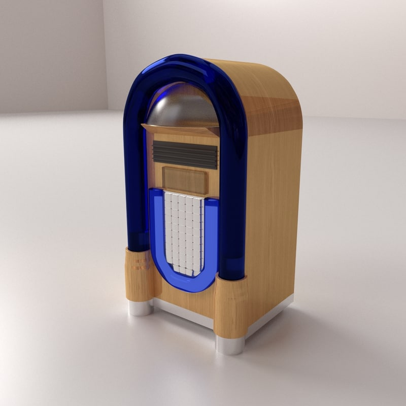 diner jukebox 3d model