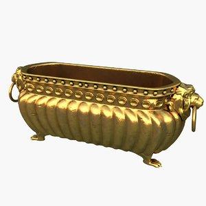3d gold vase model