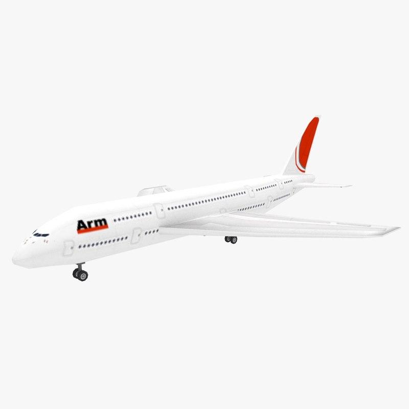 3d model passenger airplane