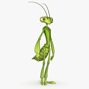 funny mantis 3d model