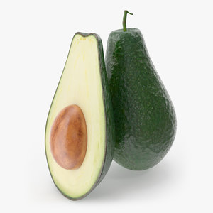 avocado photorealistic modeled 3ds