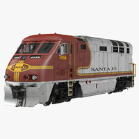 Diesel Electric Locomotive F59 PHI Santa Fe