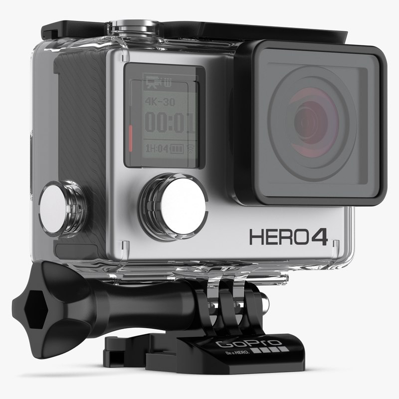 3ds max action gopro 4 black