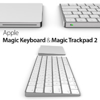 3d apple magic keyboard trackpad model