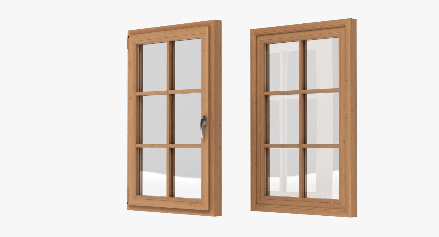 window realistic 3d model