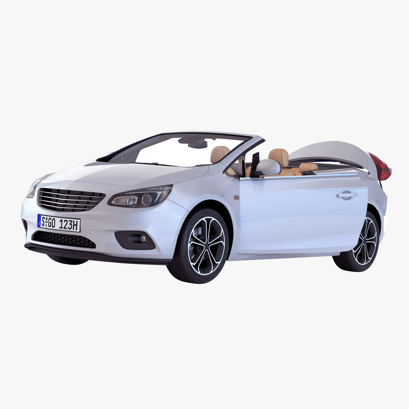 3d model generic cabriolet rigged