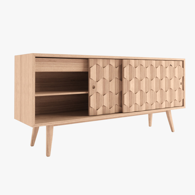3d model sideboard wewood scarpa for Sideboard 3d