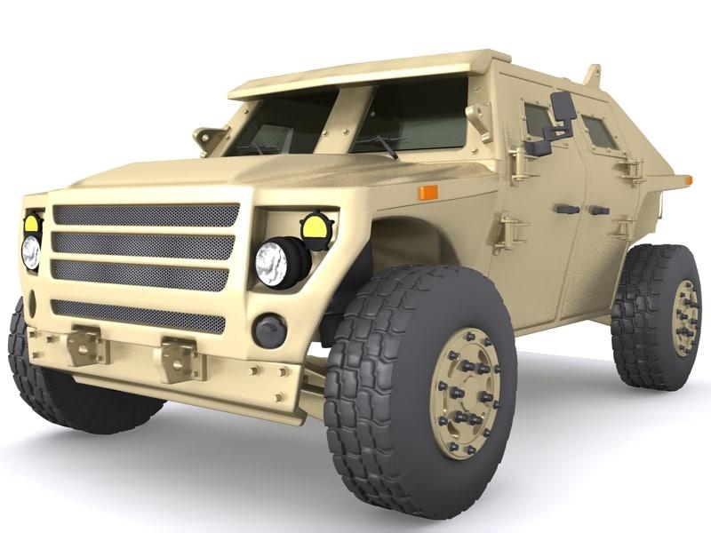 3d model of fuel efficient ground vehicle