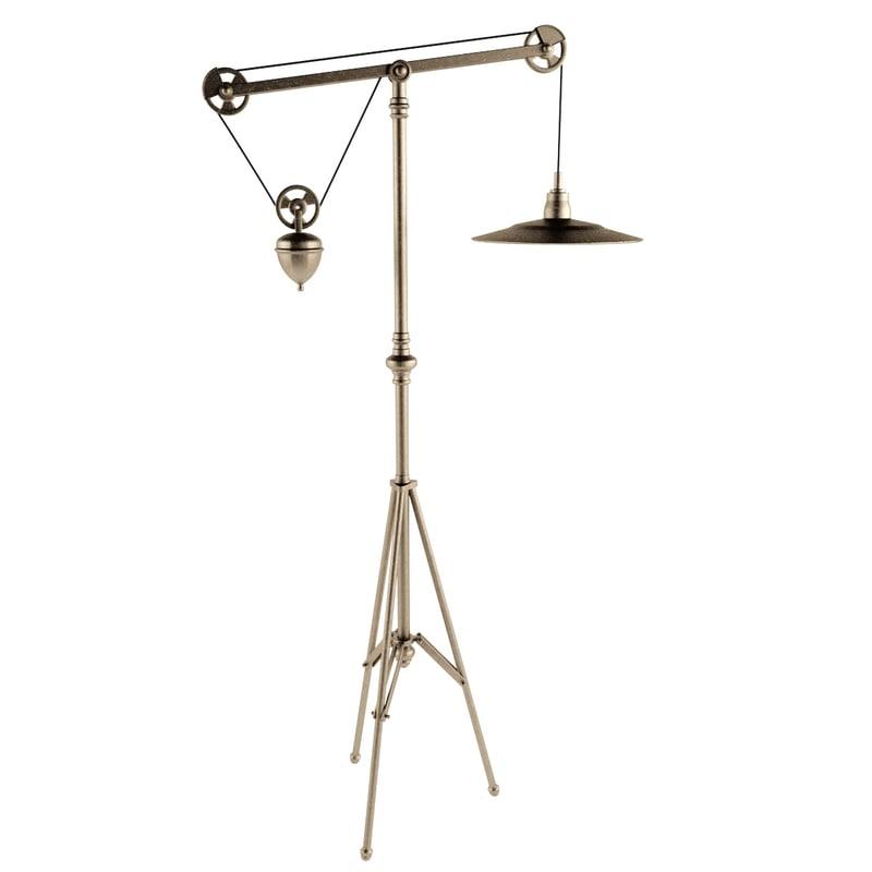 maya metal tripod floor lamp