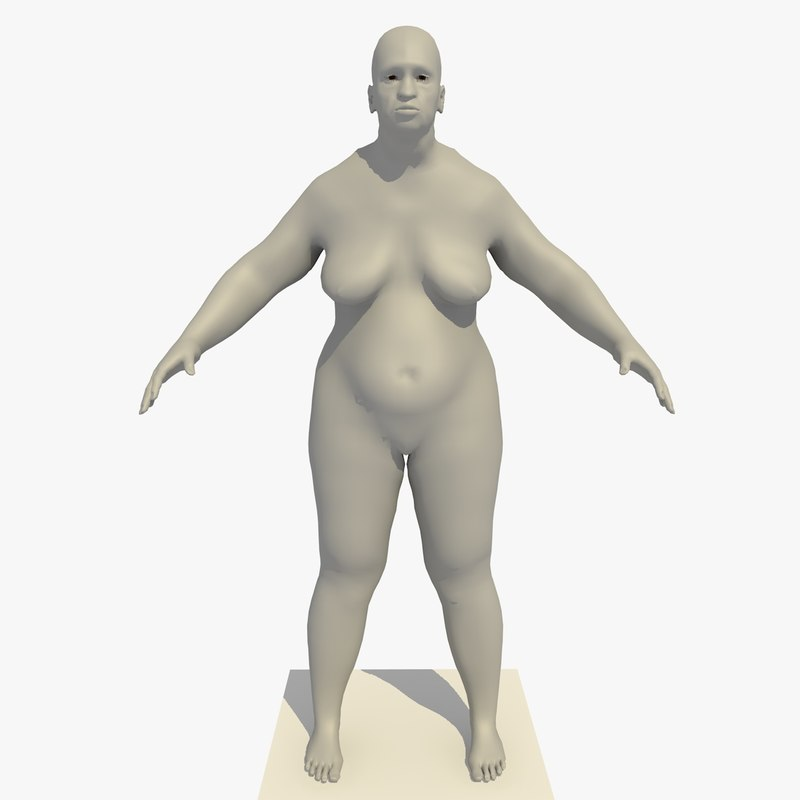 c4d base mesh obese african