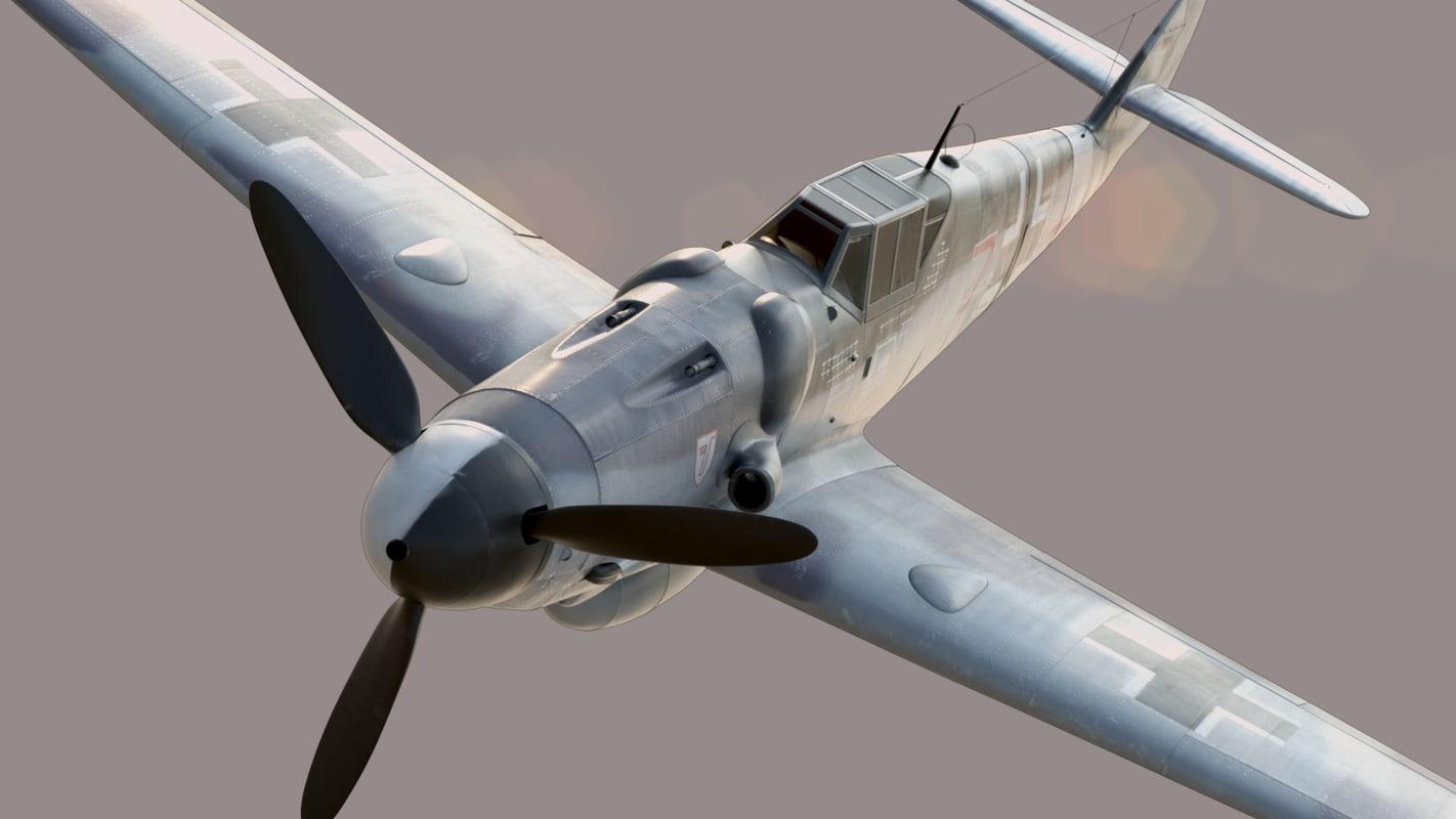 bf-109 german fighter 3d model