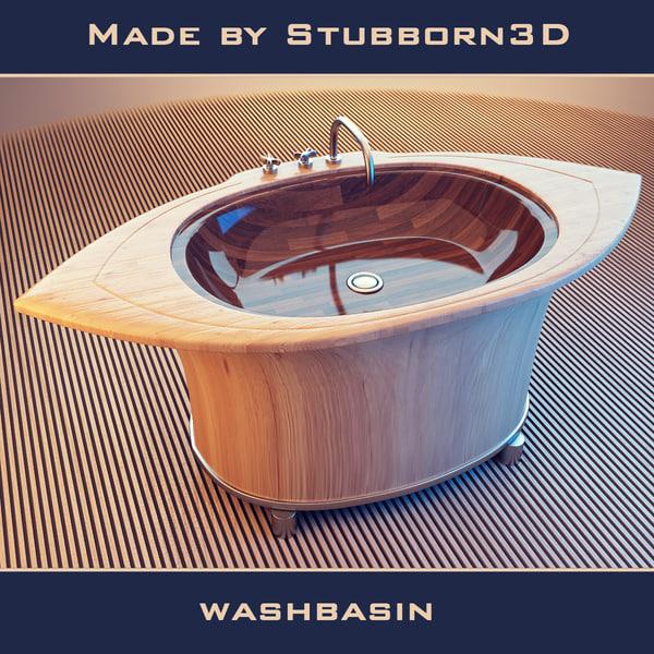 wash washbasin basin 3ds free