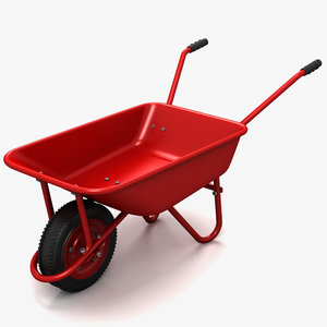 3d wheelbarrow wheel barrow