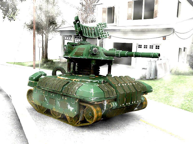 tank robot 3d model