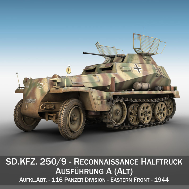 3ds max sd kfz 250 9