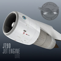 3d model jt9d jet engine lite
