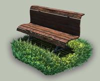 hand park bench 3d model