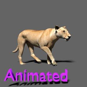 lioness 3d obj