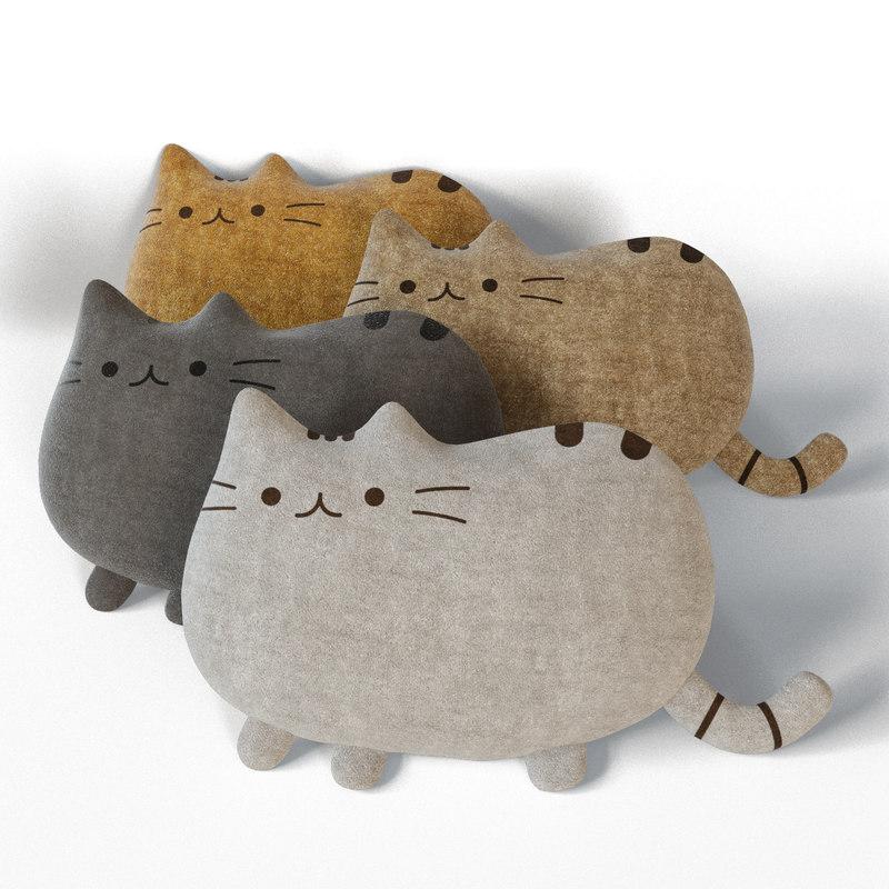 pillow cat 3d obj