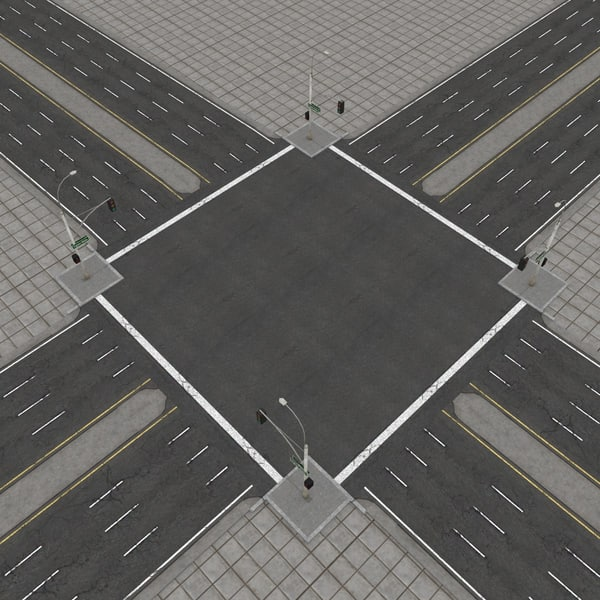 3d model road city highways