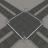 3d model road city highways