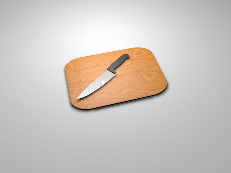 free kitchen knife 3d model