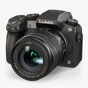 3d model panasonic lumix dmc-g7 kit