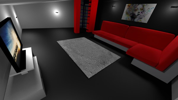 modern attic 3ds