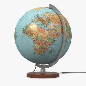globe lamp 3d model