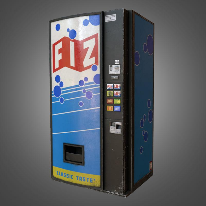 3d soda vending machine -