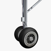 landing gear airplane wheels 3d model