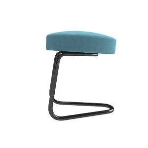 3d model cantilever stool series tecta