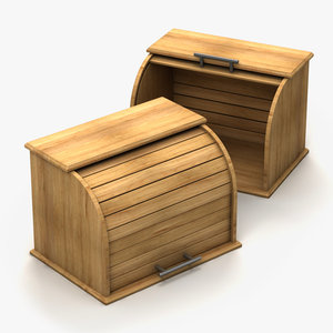 wooden bread box 3d max