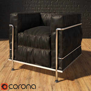 3d lc2 chair