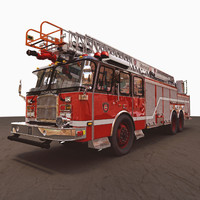 3d model aerial ladder